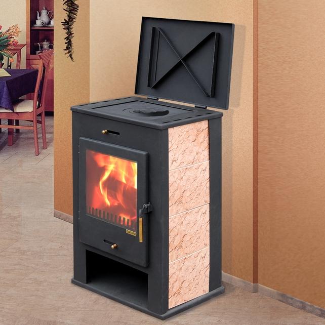 печка на дровах длительного горения