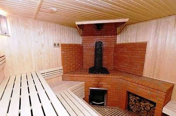 обложить железную печь кирпичом в бане