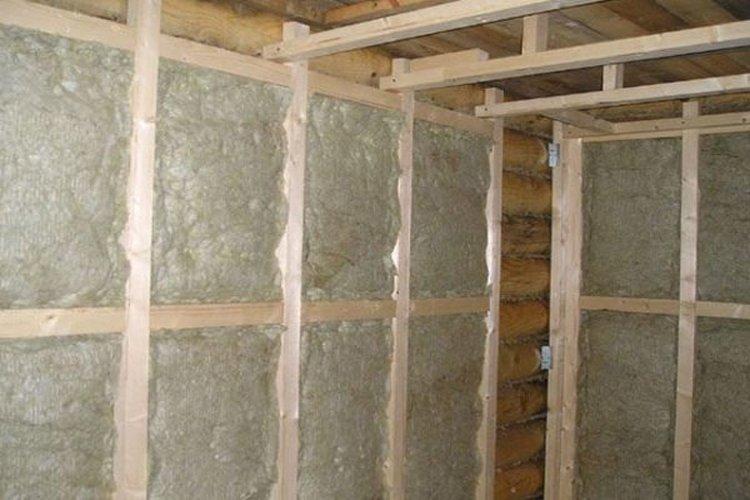 утепление стен в бане изнутри
