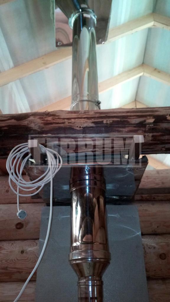 потолочно проходной узел для бани