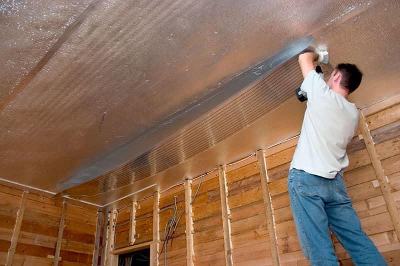 каким материалом утеплить потолок в бане изнутри