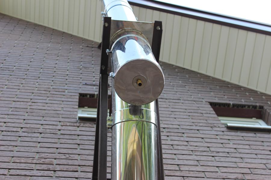 как правильно смонтировать дымоход из нержавейки